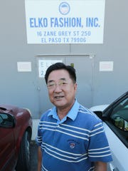 Eric Choe is co-owner of Elko Fashion, an El Paso garment