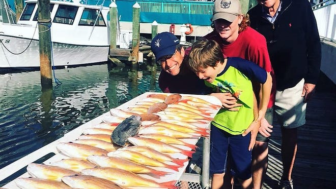 Capt. Rich Kluglein of Fins charters out of Fort Pierce City Marina steered three generations of this family to a wonderful catch of lane snapper over the weekend.