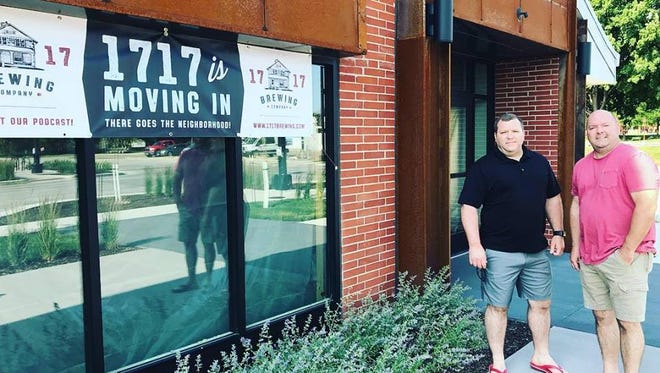 Brothers Matt (left), Phil and Jerry Glenn (not pictured) will open 1717 Brewing Company near downtown Des Moines.
