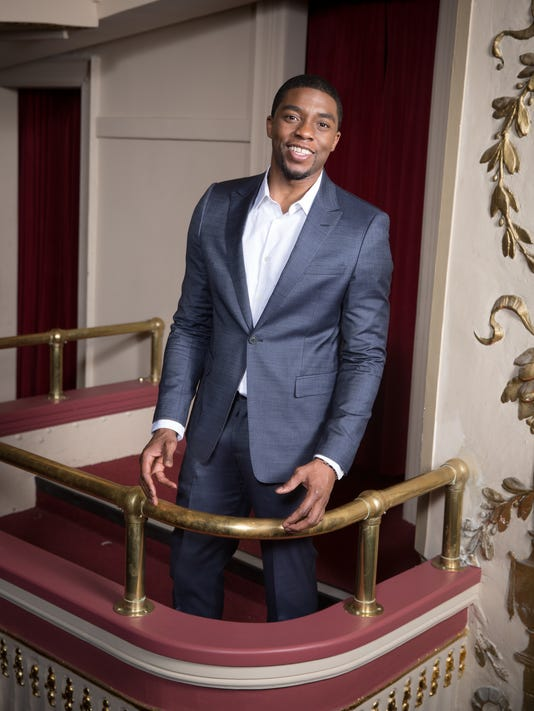 Chadwick Boseman gets on up as James Brown in biopic