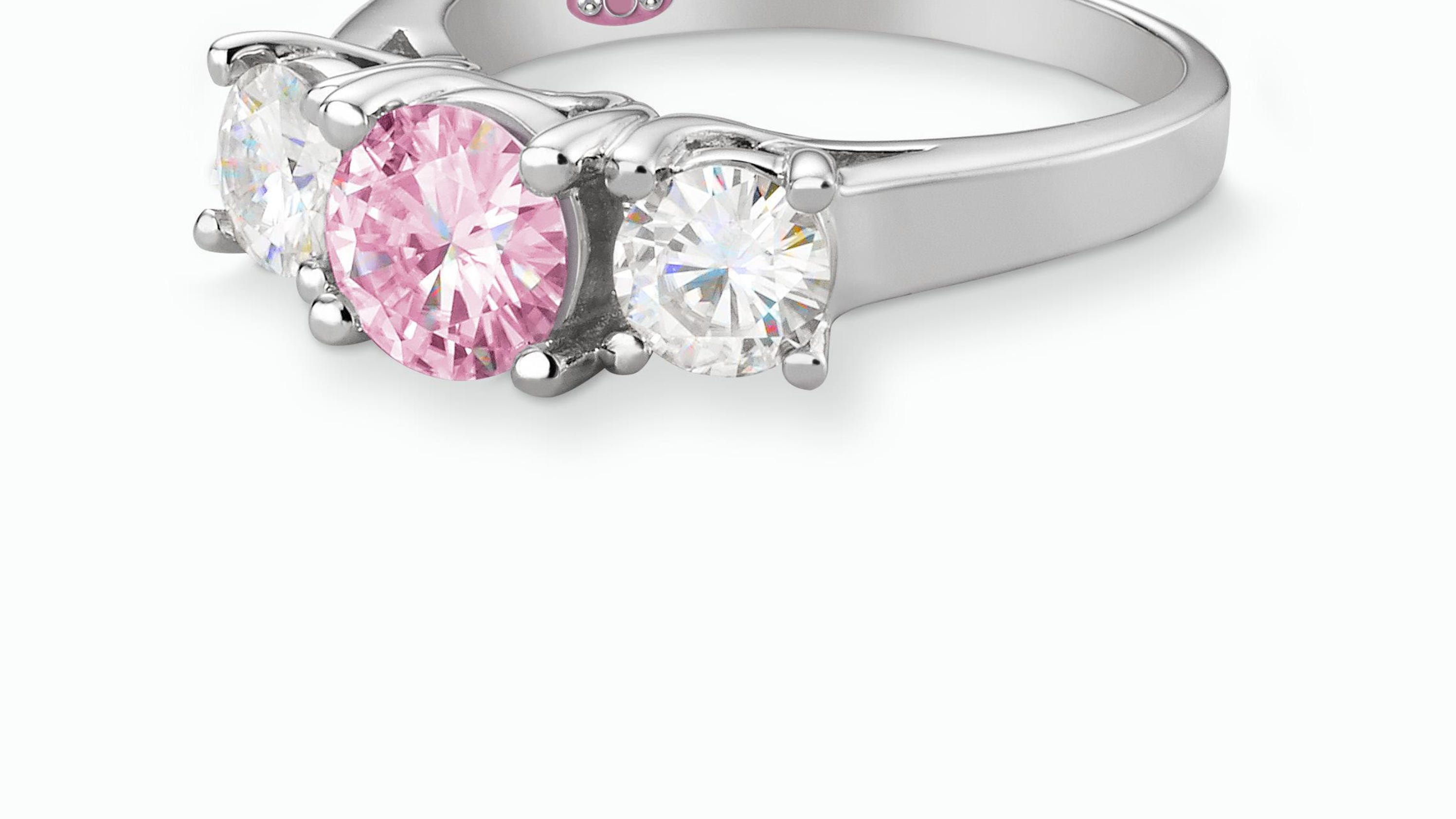 breast cancer c silverworks ring rings product heart engagement shop