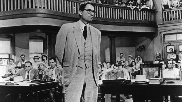 Actor Gregory Peck won an Oscar for his role as Atticus