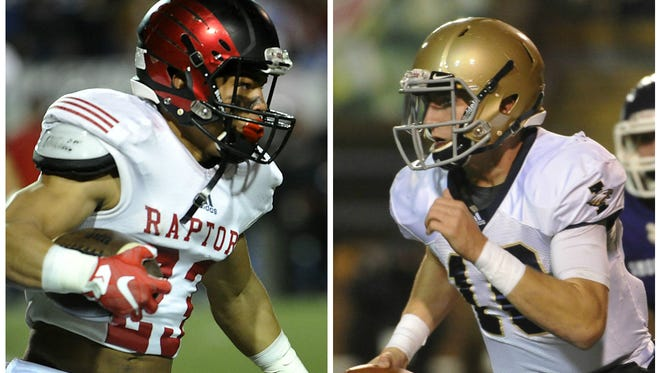 Ravenwood senior WR/RB Chris Rowland (left) and Independence senior QB Andrew Bunch.