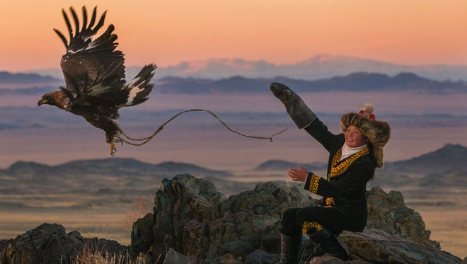 """A scene from """"The Eagle Huntress."""""""
