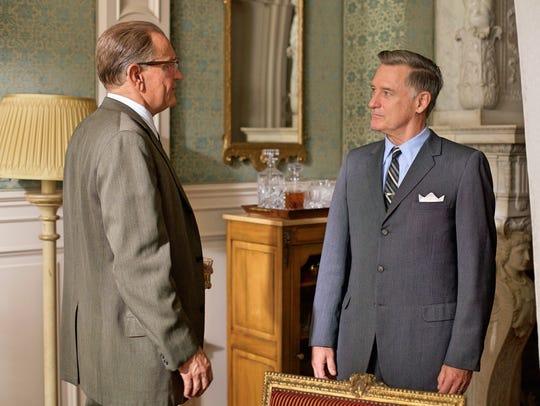 "In ""LBJ,"" Johnson (Woody Harrelson (left) confronts"