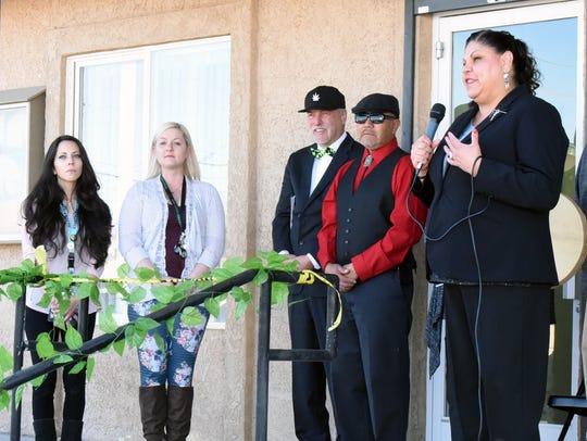 Yerington Paiute Tribe Chairman Laurie Thom speaks