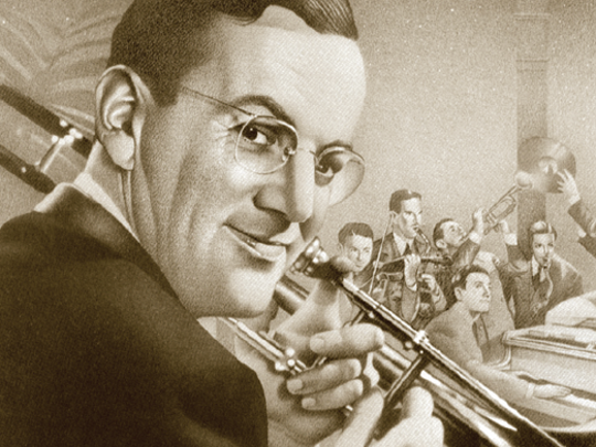"The Jazz Film Series continues Sunday at 1:30 p.m. with ""The Glenn Miller Story."""