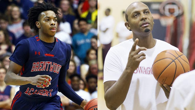 Brentwood Academy senior Darius Garland (left) and Memphis East coach Penny Hardaway (right) will both take part in the 2018 Nike Hoops Summit