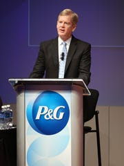 David Taylor, CEO of Procter & Gamble, speaks in 2016 during the company's annual shareholders meeting at P&G headquarters, in downtown Cincinnati.