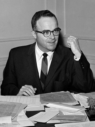 In this March 22, 1961, file photo, Walter Byers, executive