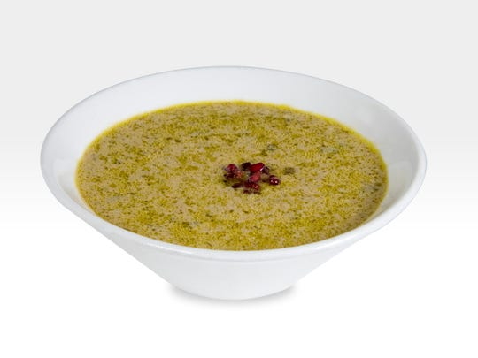 Pistachio soup, an indulgent Persian dish, requires a pound of (pesky to peel) pistachios for four to six small servings.