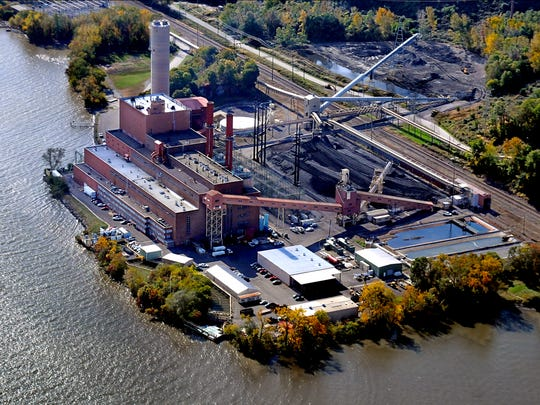 This aerial view shows the Danskammer electric-generating power plant in the Town of Newburgh.