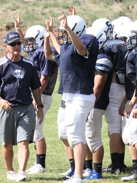Silver head coach Butch Branson was looking for players to compete for roster spots Wednesday night in the scrimmage against Lordsburg.