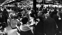 12/19/1966: Shoppers in Alexander's department store