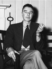 Dr. J. Robert Oppenheimer, Feb. 14, 1946, at the Guest House in Oak Ridge. (Photo by Ed Westcott)