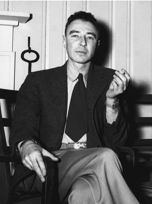 Dr. J. Robert Oppenheimer, Feb. 14, 1946, at the Guest House in Oak Ridge. (Photo by Ed Westcott)