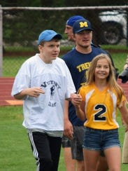 Jake Gilstorf and his sister Ally at Victory Day.