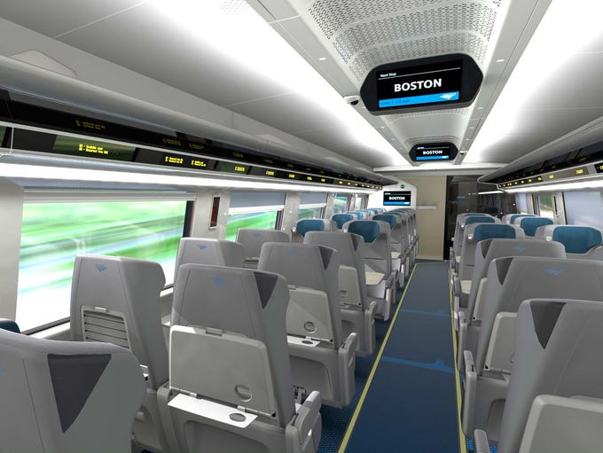 Amtrak has revealed the interiors on its new Acela