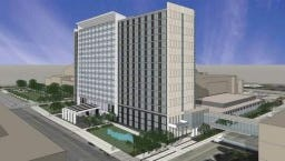 Des Moines included a proposal for a $130 million convention hotel downtown in its reinvestment district application.