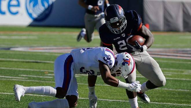 Game action from Saturdays UTEP versus La Tech game in the Sun Bowl where the MIners fell for the eleventh straight time this season falling to the Bulldogs 42-21.