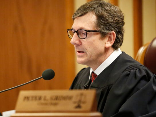 Fond du Lac County Circut Court Judge Peter Grimm sentences