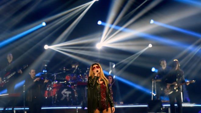 Shania Twain performs in concert July 31, 2015, at Bridgestone Arena.
