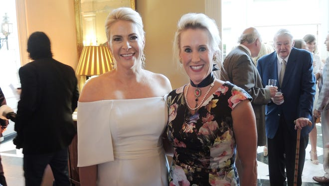 Swan Ball 2017 Auction Party co-chair Paige Bainbridge, left, and Sarah Reisner at the Swan Ball 2017 Auction Party, held at Belle Meade Country Club.