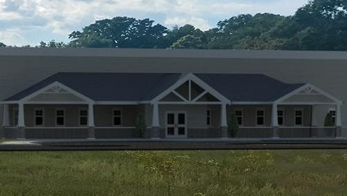 An artist rendering of the new Dream Center location located in North Jackson. The city council approved, with a 5-3 vote, the rezoning request for property owned by Northside Assembly of God, Tuesday, July 11.