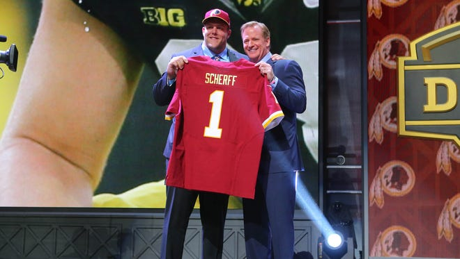 Brandon Scherff became the fifth player in Iowa football history to be a Top Five selection in the NFL Draft.