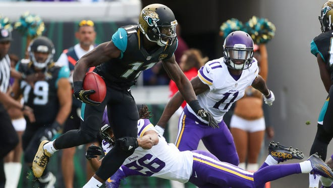 Wide receiver Marqise Lee has become a larger part of the Jaguars offense in recent weeks.