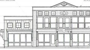 A rendering of a proposed building at 221 W. Wisconsin Ave. that would be occupied by Chiropractic and Wellness at Pewaukee Lake