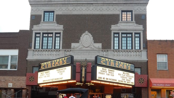 """Main Street Cinemas in Mount Pleasant uses its digital projection capability to hold community events beyond the traditional boundaries of a movie theater, including showings of Hawkeye football games and the Super Bowl. Last month, participants in the annual Red Flag Horseless Carriage Tour drove their antique vehicles downtown to view the period film, """"Eat My Dust,"""" at the theater."""