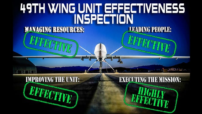 The 49th Wing recently passed the 2015 Unit Effectiveness Inspection with an overall grade of effective.
