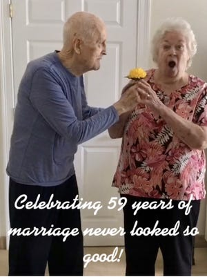 The folks over at The Arbors at Stoughton celebrated a couple's 59th wedding anniversary by creating yet another TikTok video featuring the couple. The video is posted on The Arbors of Stoughton's Facebook page and has been viewed over 4,500 times.