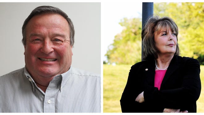 Bob Spears (left) defeated Anita Meeker on Tuesday for Peoria County circuit clerk.