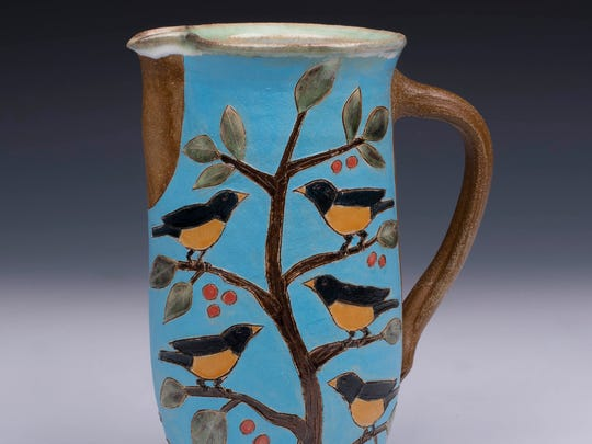Ceramic mug by Clay Bay Pottery, one of the sites for the Holiday Open House of Ellison Bay galleries on Nov. 24-25.