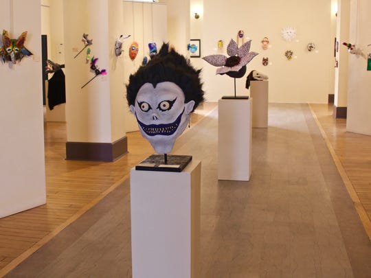 "The ""Student Mask Show"" is on display at Artel Gallery"