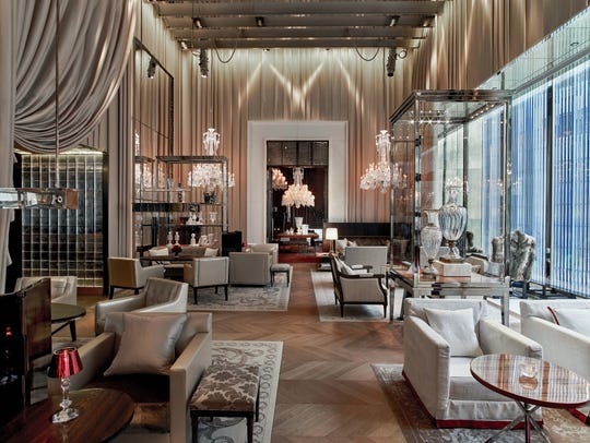 The Grand Salon at the Baccarat Hotel.