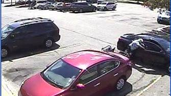 Police are looking for the driver and passenger of this Sentra after an elderly woman's purse was stolen  Sept. 8, 2016.