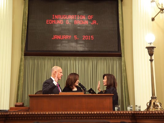Jerry Brown, Anne Gust Brown, Tani Cantil-Sakauye