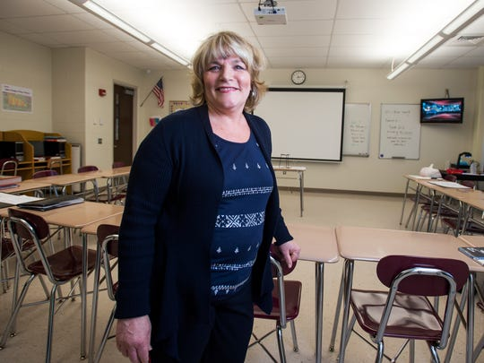Joanne Matias, a teacher in Johnson City High School's alternative education program, helps her students, many who struggle with poverty, by providing them with toiletries and food through grants.