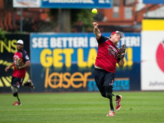 Josh Wege of the Wounded Warrior Amputee Softball Team