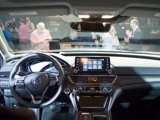 The interior of the 2018 Honda Accord is revealed on