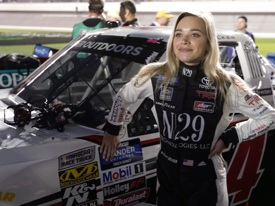 Eagle River native Natalie Decker, who made 19 starts in the Gander Outdoors Truck Series last year, is set for eight this season, beginning at in the season opener at Daytona.
