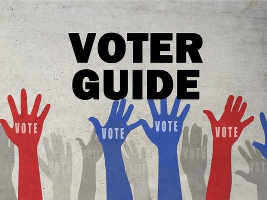 Voter guide presto stock