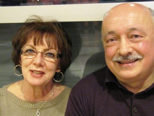 Kathy Kauppinen of Van Etten and Larry Beebe of West