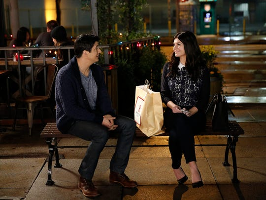 "Ken Marino and Casey Wilson appear in a scene from the comedy ""Marry Me,"" premiering on Oct. 14."