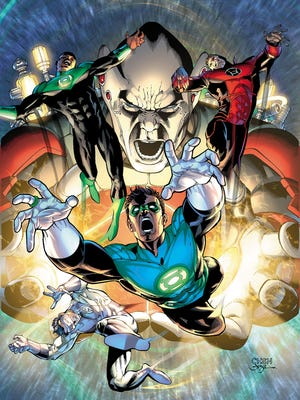 "Relic proves a formidable for for all of the Earth-born Lanterns in the Green Lantern crossover story line ""Lights Out."""