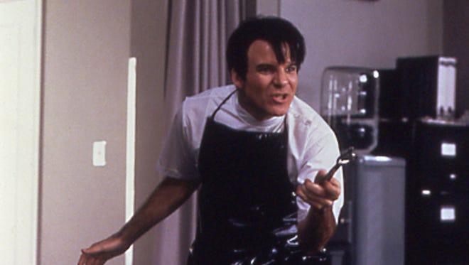 Steve Martin went a little crazy and a little Elvis as Orin Scrivello, D.D.S. in 'Little Shop of Horrors.'