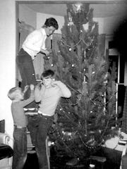Christmas tree decorating.